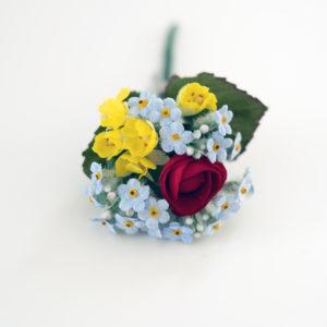 Vintage Hutblumen Anstecker
