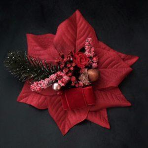 Vintage Ansteckblume Weihnachten