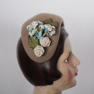 Retro Half Hat Filz Olivia