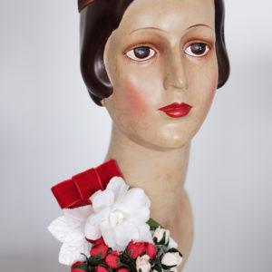Vintage Blumen Brosche Haarkamm Set