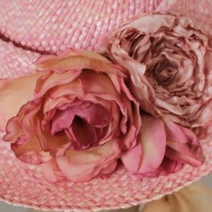 Strohhut Rosa