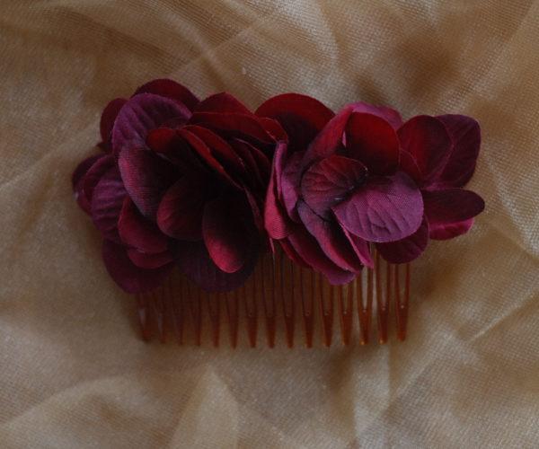 Blumen Haarkamm Hortensie